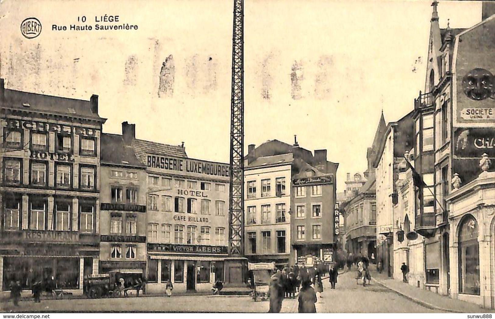 Liège - Rue Haute Sauvenière (animée, Café Restaurant, Brasseur, 1928) - Liege