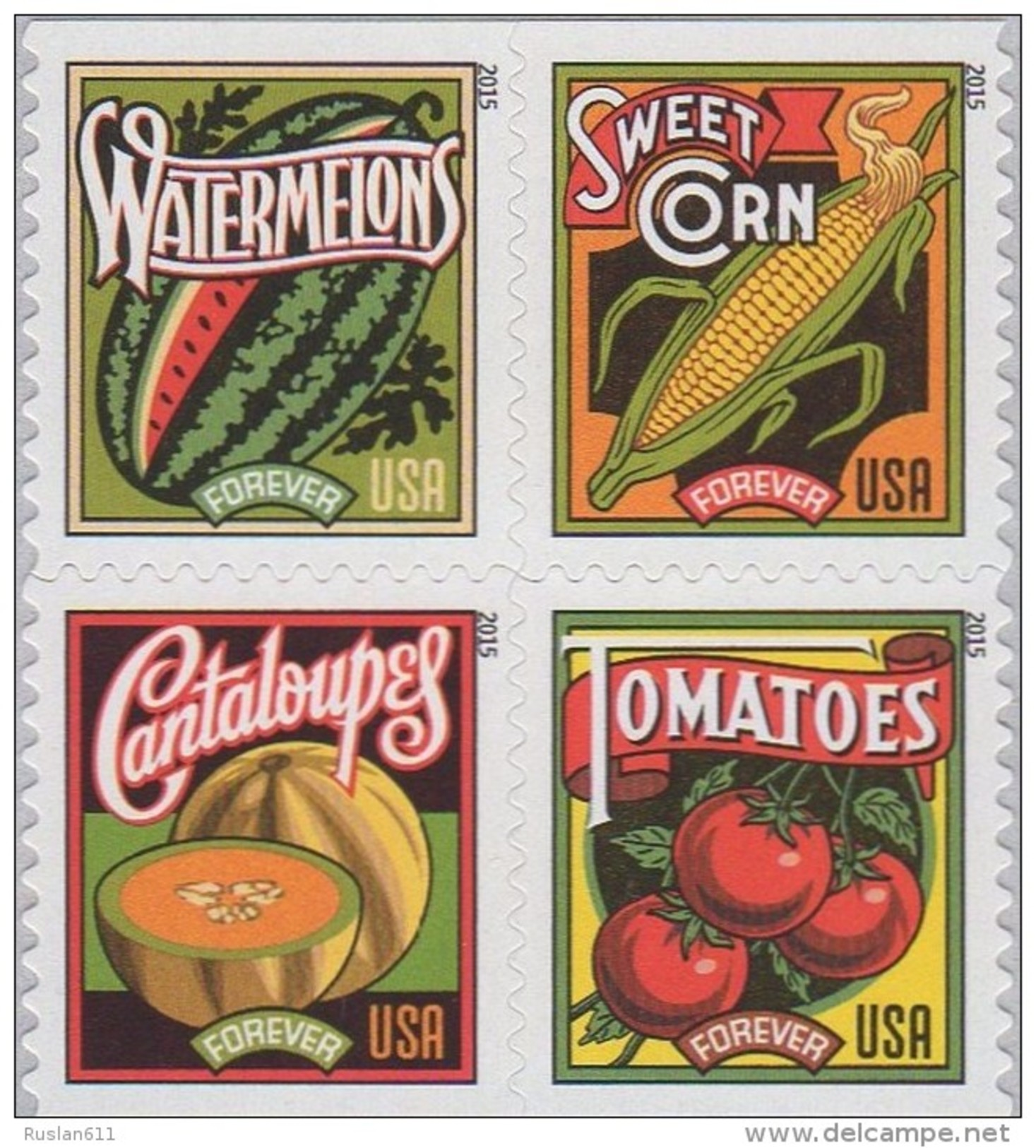 USA 2015 #5007 Summer Harvest 0.49c X 4  MNH ** - United States
