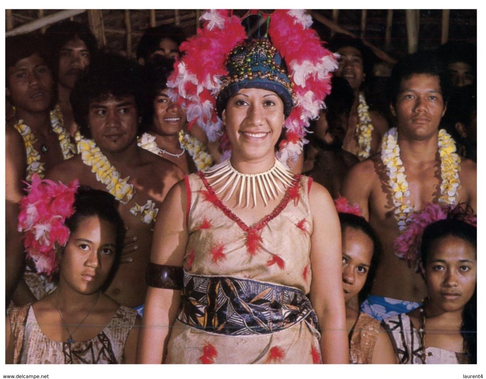 (PF 805) American Samoa - Polynesian Welcoming Party At The Airport - Samoa Americana