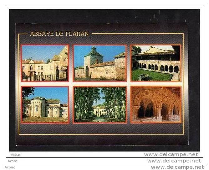 32 ABBAYE DE FLARAN   Carte Multi-vues De L' Edifice Cistercien Construit Sur Les Bords De La Baise - France