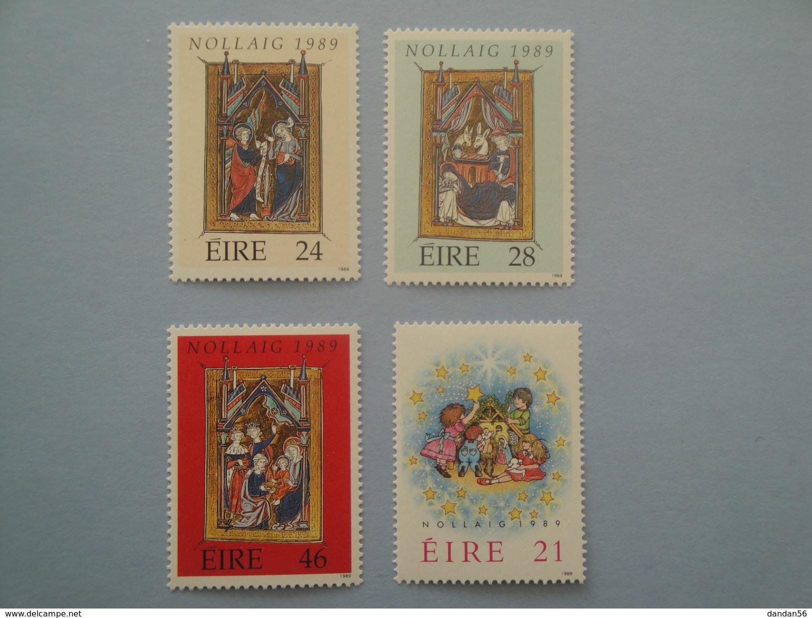 1989 Irlande Yv 697/700  ** Noël Christmas  Scott 759/62 Michel 694/7   SG 738/41 - 1949-... République D'Irlande
