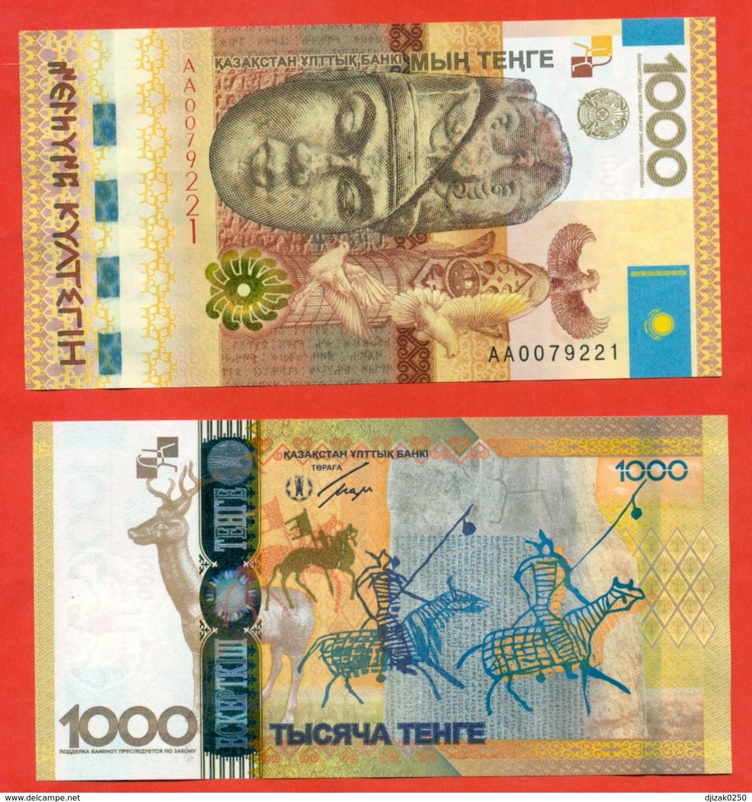"Kazakhstan 2013.Commemorative Banknotes ""Kulnigen""-ancient Writing.UNC. - Kazakhstan"