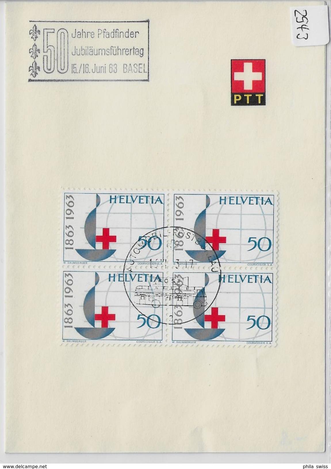 1963 50 Jahre Pfadfinder Jubiläumsführertag 15./16. Juni 63 Basel 399/772 PTT Bögli - Scoutisme