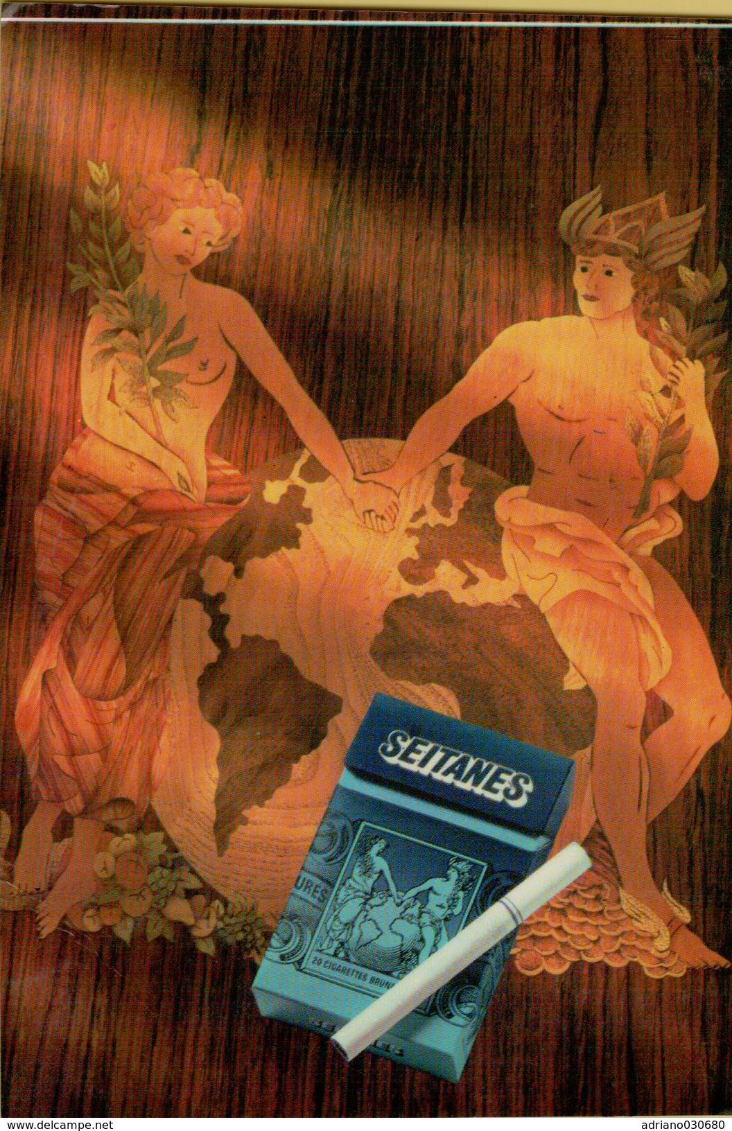 143225 CARTOLINA PUBBLICITA' PUBBLICITARIA SEITANES - Pubblicitari