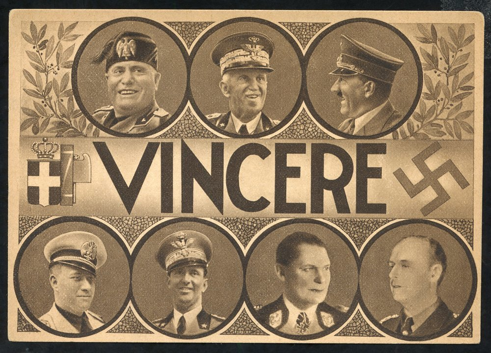 1939  Propaganda Cards 'Vincere' Showing 7 Portraits Of German And Italian Leaders Incl. Hitler, Mussolini & Goering Etc - Unclassified