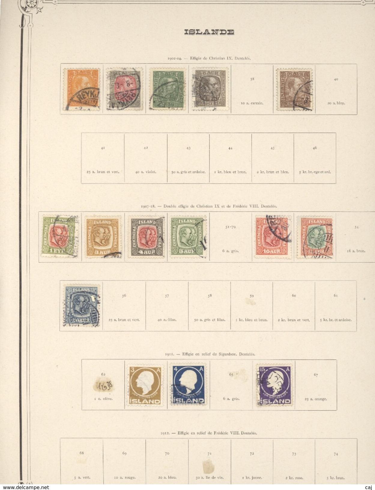 C 605++  -  Islande  :  Collection Avant 1930  ,  Cote 440 Euro ,  4 Pages à Voir - Islande