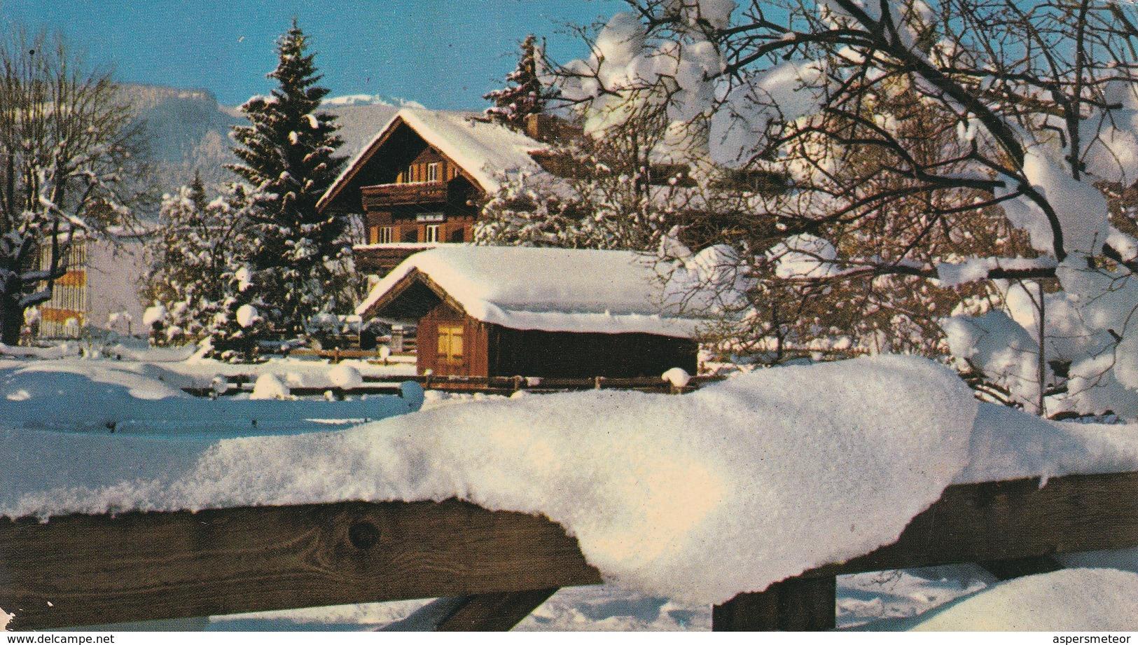 BARILOCHE. PAISAJE NEVADO. COLOR POST CARD. LANDSCAPE PAYSAGE SNOW WINTER -ARGENTINE-BLEUP - Argentina