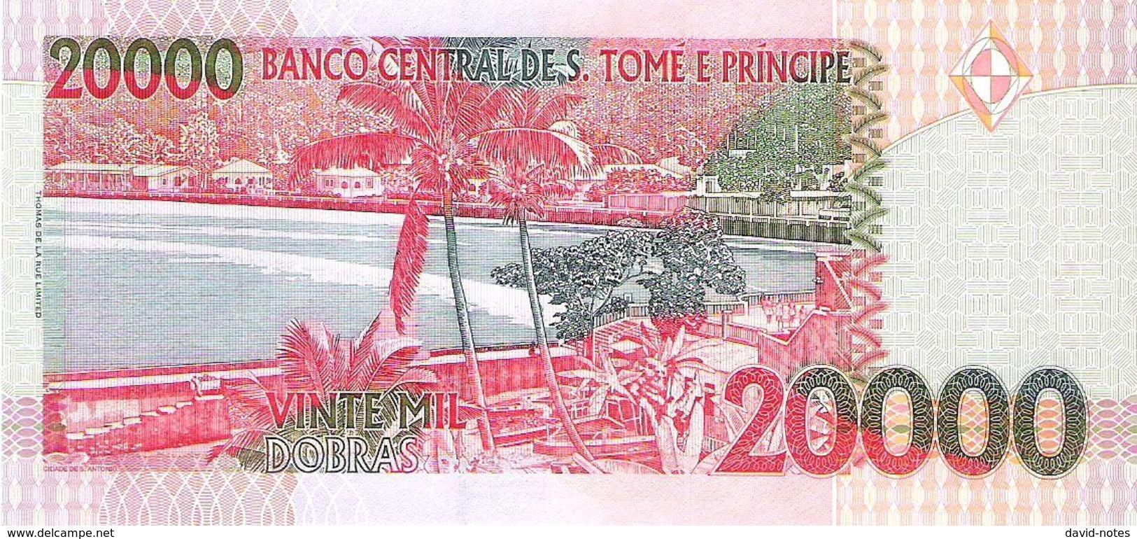 Saint Thomas & Prince - Pick 67b - 20.000 (20000) Dobras 2004 - Unc - Sao Tomé Et Principe