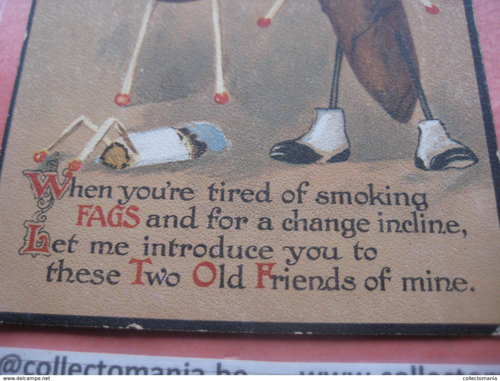 1 Postcard Cigar ( Sigaar ) Tobacco Tabak (smoking Roken ) Pijp Pipe Pippe B. B. Lucifers Allumettes Sigarette - Humour