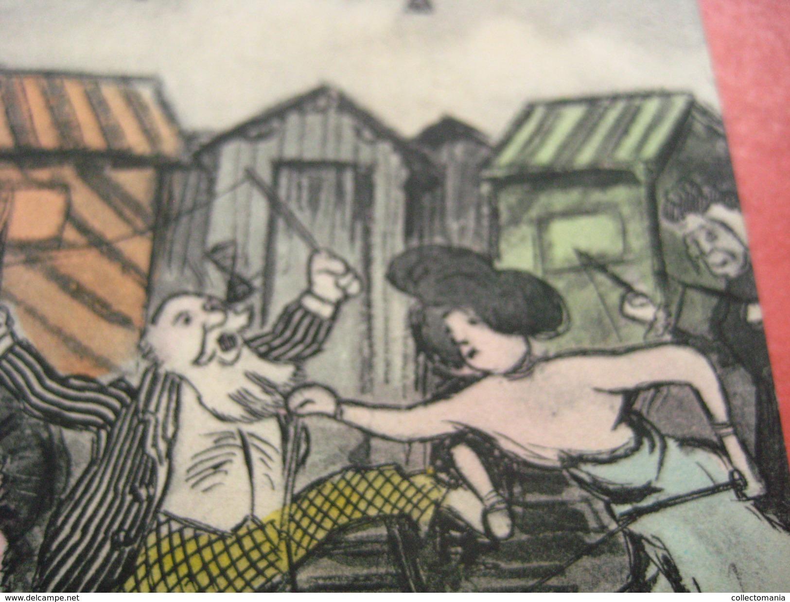 1 Postcard DIABLO - Le Fureur Diabolique - La Vie BALNEAIRE - The DIABLO Sport Around 1905 A Real Hype - Blankenberge - Blankenberge