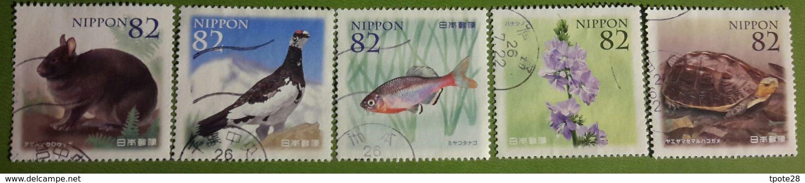 Japon 2014 6548 6552 Poisson Faune Tortue Fleurs Photo Non Contractuelle - 1989-... Emperor Akihito (Heisei Era)