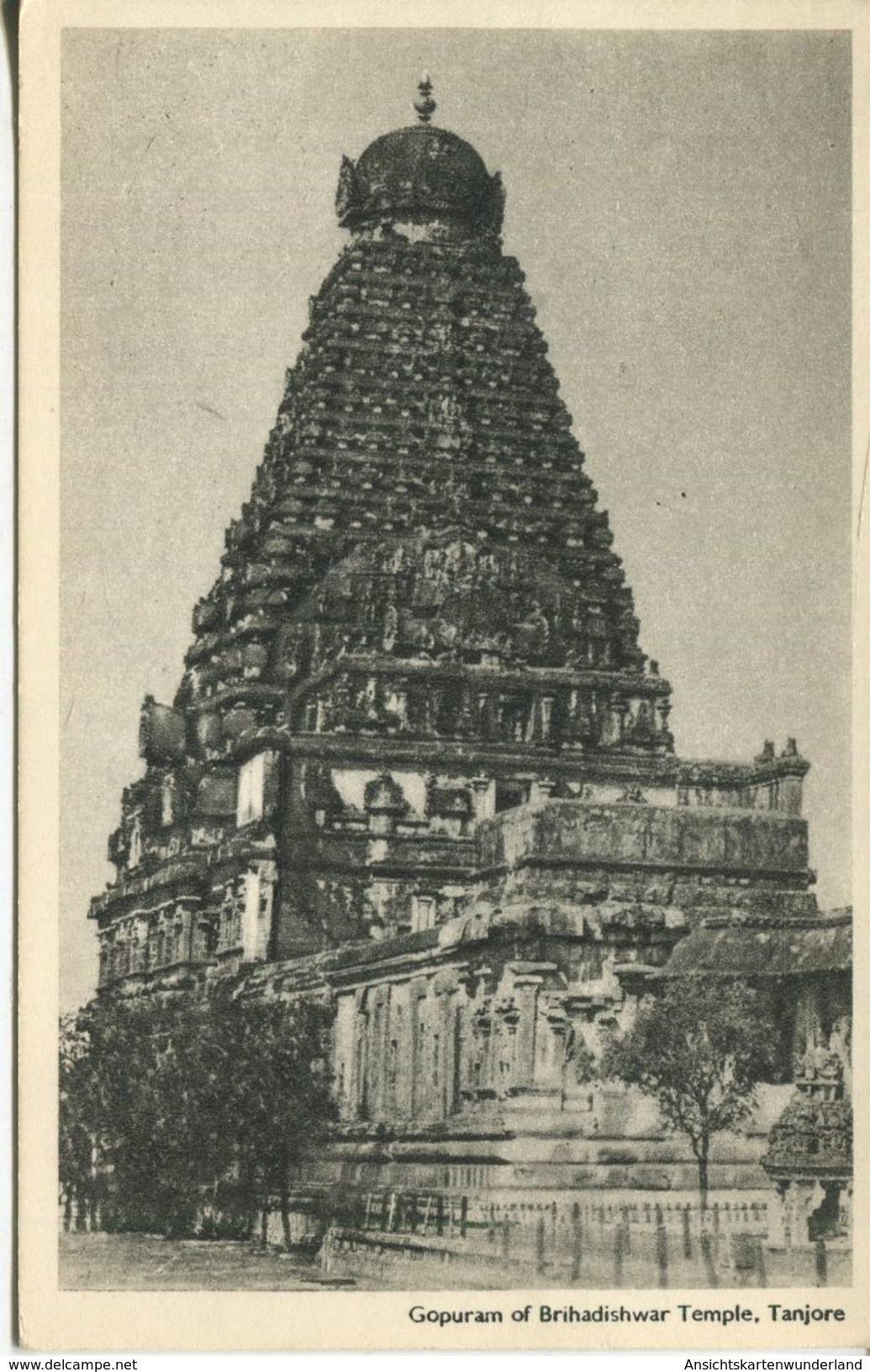 Gopuram Of Brihadishwar Temple, Tanjore 1961 (002582) - Indien