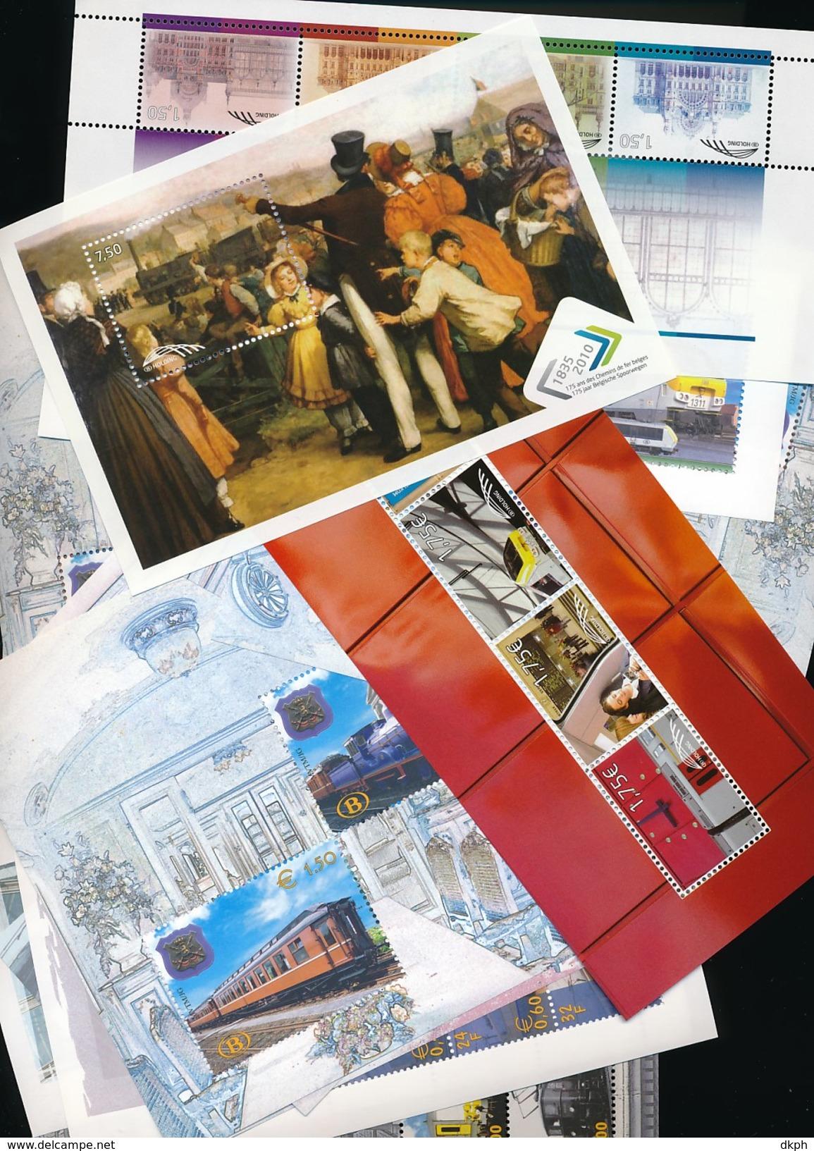 BELGIQUE LOT DE 104.50 EUROS DE  FACIALE QUE DES TIMBRES EN EUROS CHEMIN DE FER - Collections