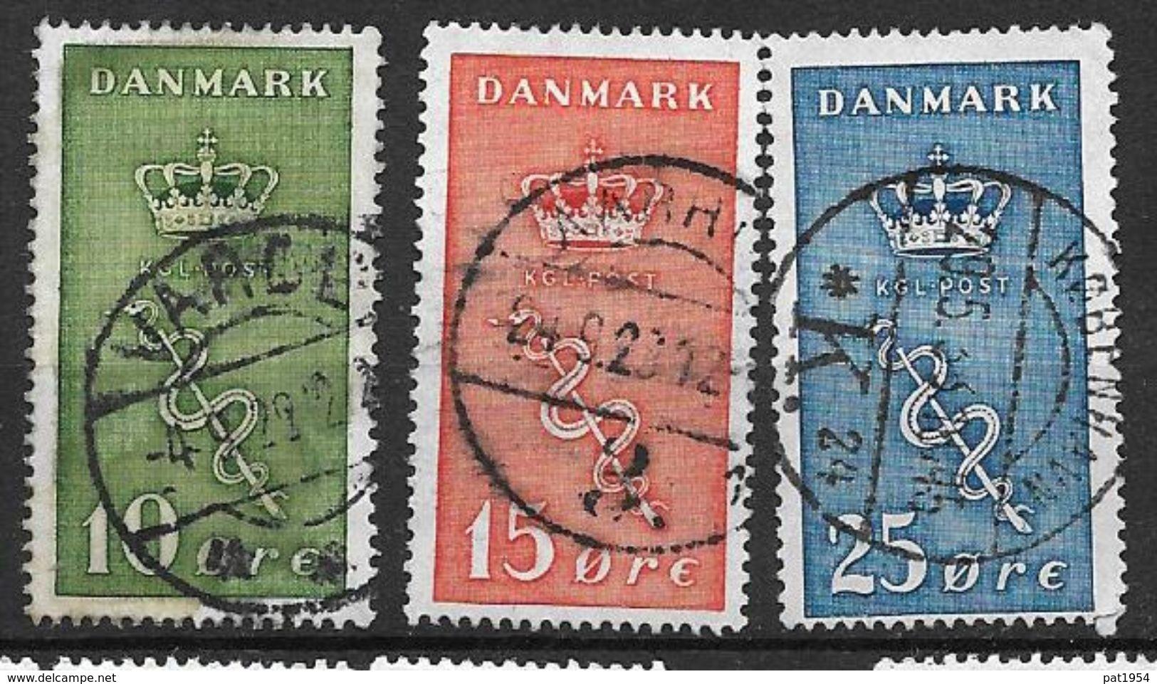Danemark 1929 N° 190/192 Oblitérés  Surtaxe Contre Le Cancer - 1913-47 (Christian X)