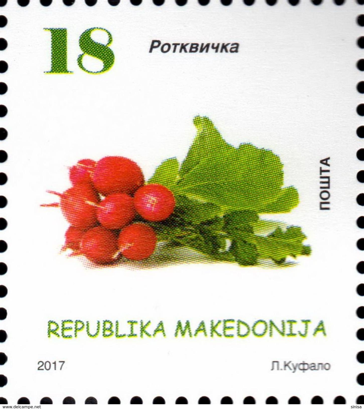 Macedonia / 2017 / Definitive - Vegetables / Radish - Macedonië
