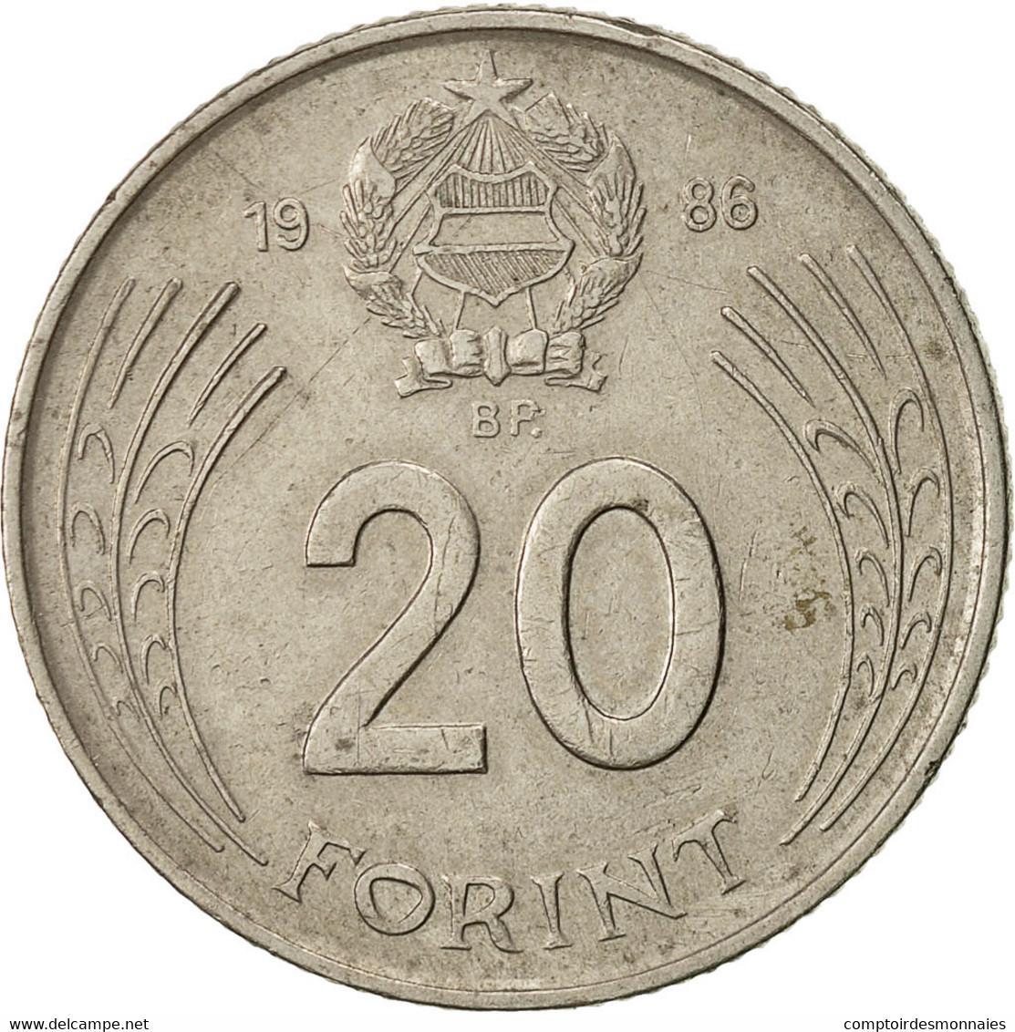 Hongrie, 20 Forint, 1986, TTB, Copper-nickel, KM:630 - Hongrie