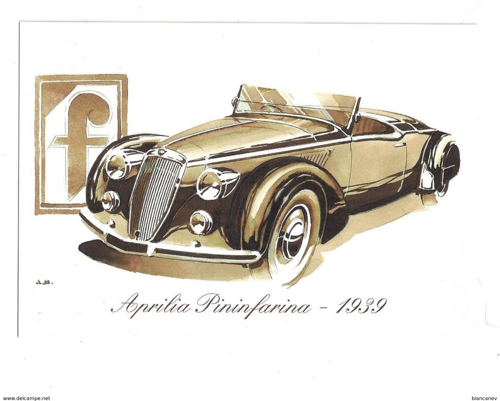 CARTOLINA AUTO LANCIA - 1 - Turismo
