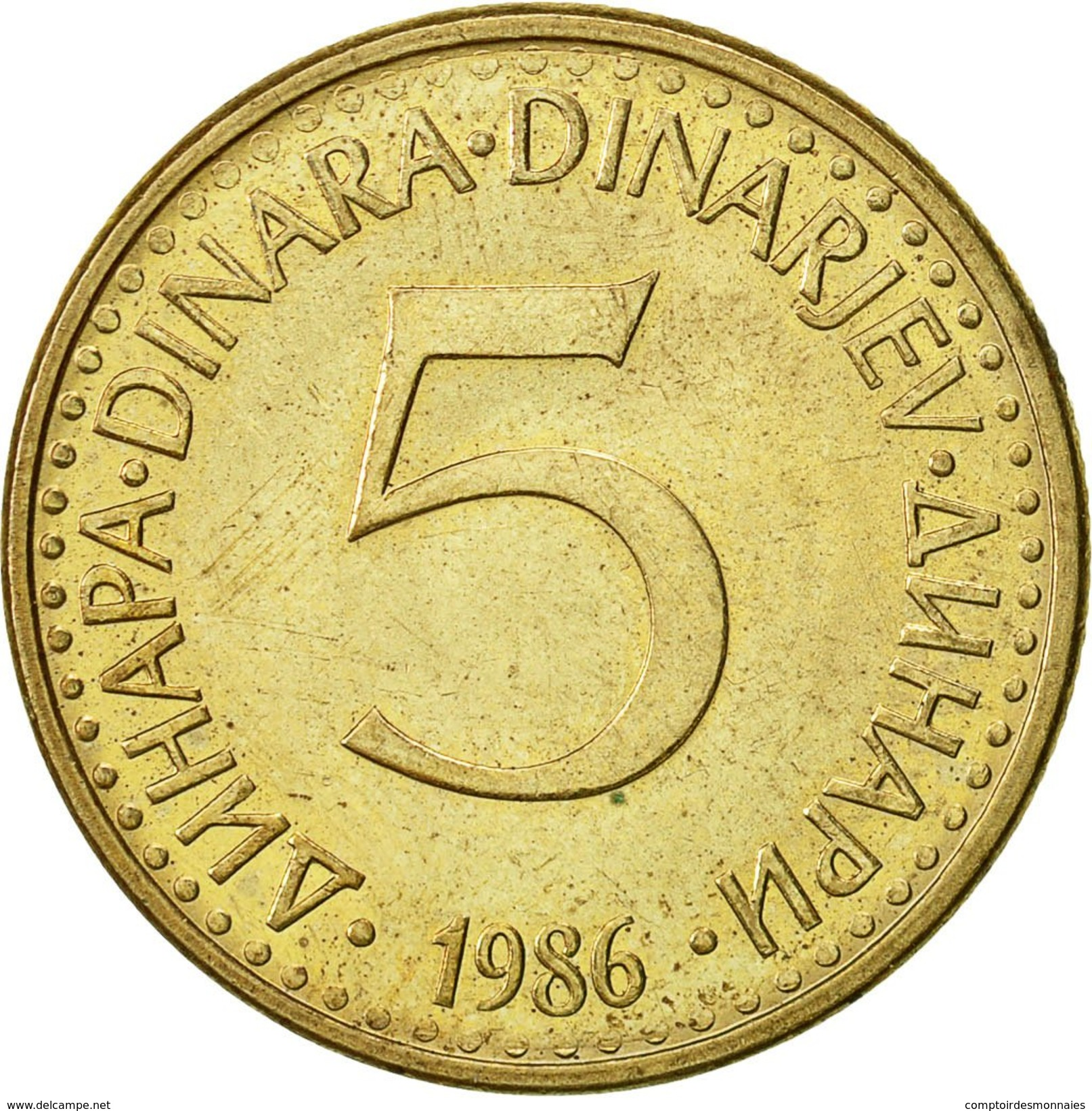 Yougoslavie, 5 Dinara, 1985, TTB, Nickel-brass, KM:88 - Joegoslavië