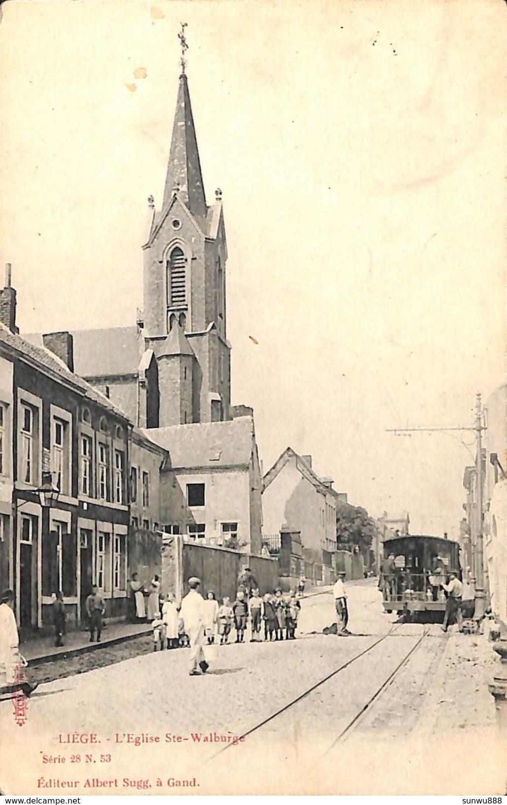 Liège - L'Eglise Ste-Walburge (animée, Tram Tramway, Albert Sugg) - Liege