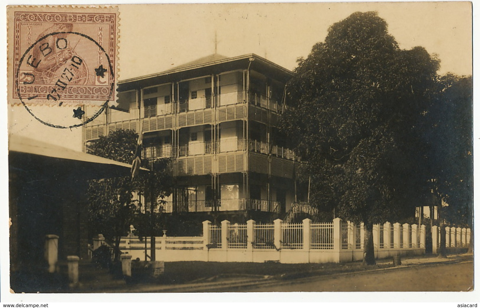 Real Photo Kinshasa Hotel A.B.C.  Photo André Edition Nogueira Voyagé Luebo 1927 - Kinshasa - Léopoldville