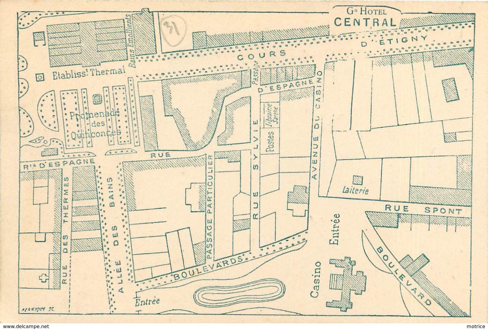 BAGNERES DE LUCHON - Grand Hotel Central,cours D'Etigny, Carte De L'hôtel Format 12cm X 8cm. - Other Municipalities