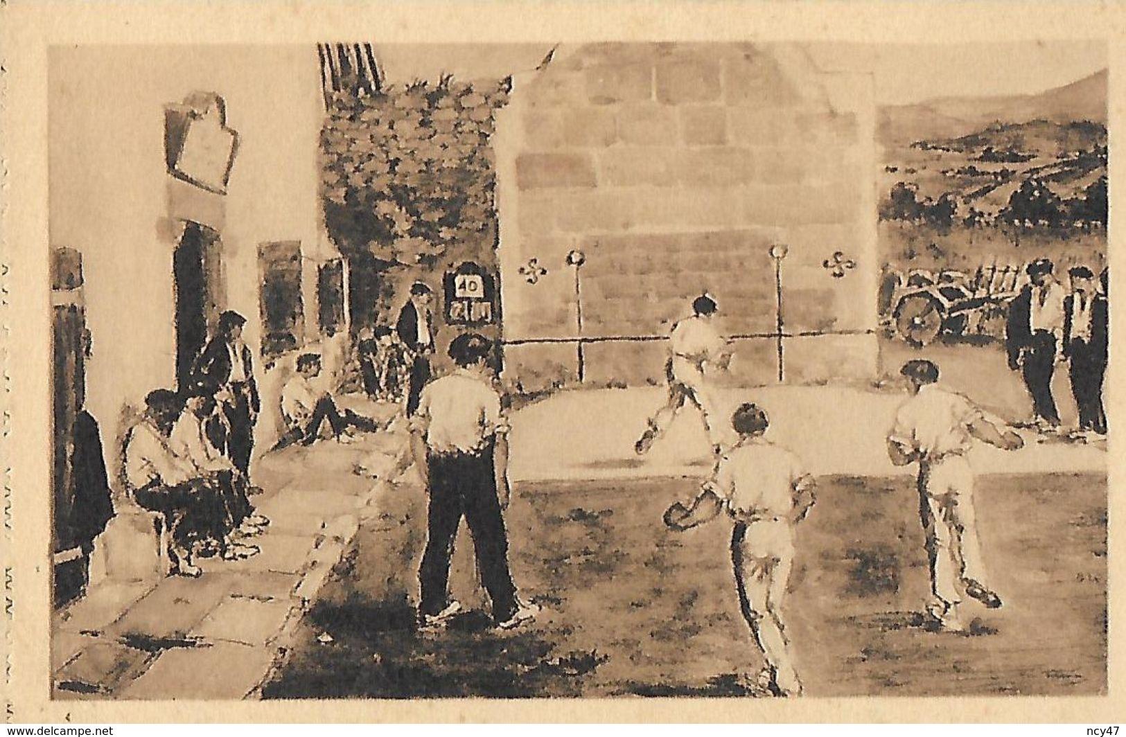 CPA (64) ARTS.   Fronton De Pelote Basque ( D'après Le Tableau De R. Baudichon). ..I 980 - Peintures & Tableaux