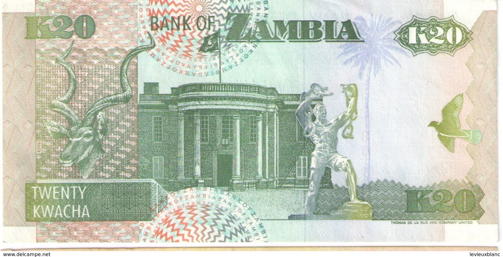 20 Kwachas/ Bank Of Zambia//  1992                                                      BILL179 - Zambia