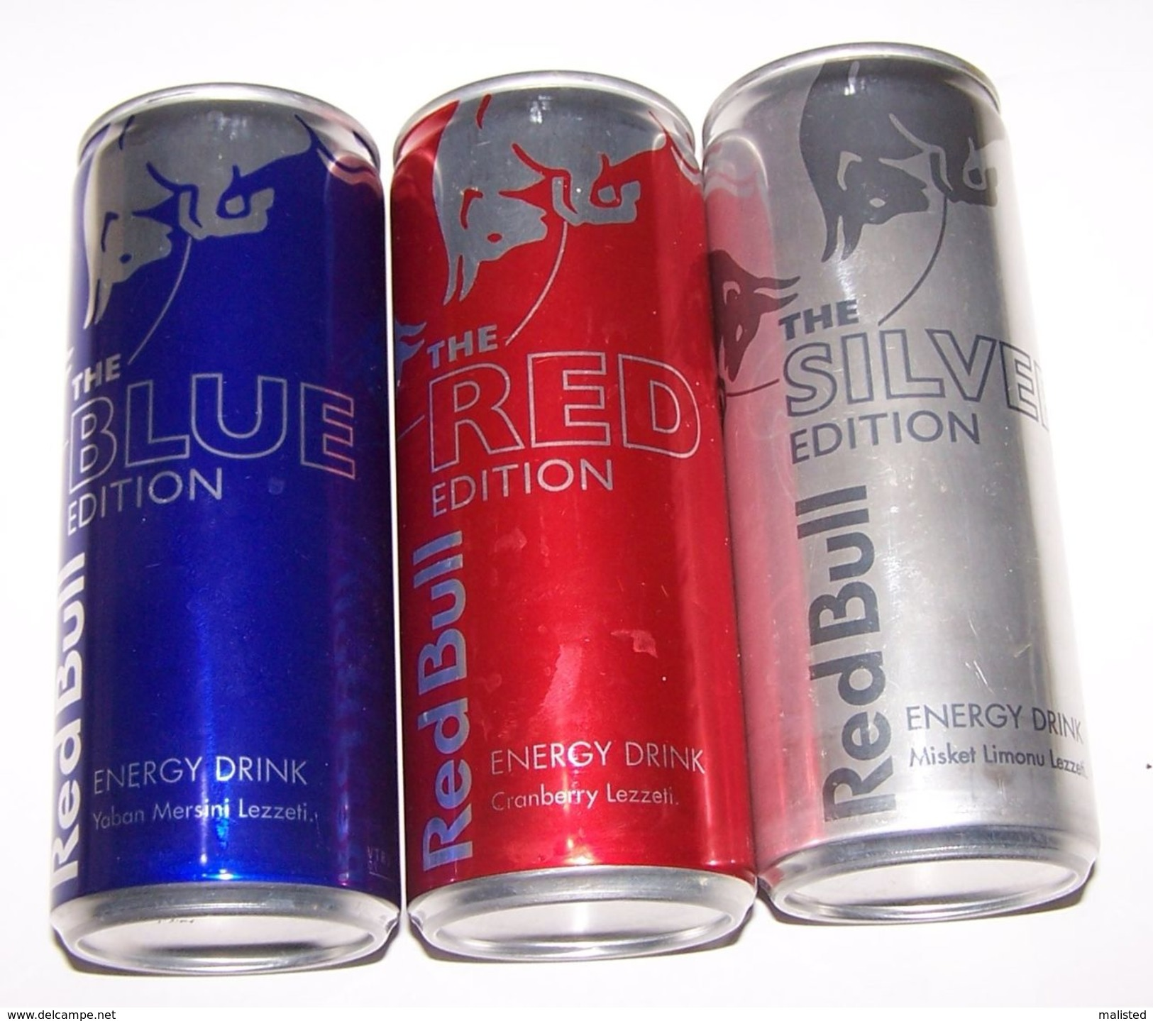 Turkey Rare Red Bull Red Edition - Blue Edition And Silver Edition Set Of Three Energy Can 250 ML 1!!! - Cannettes