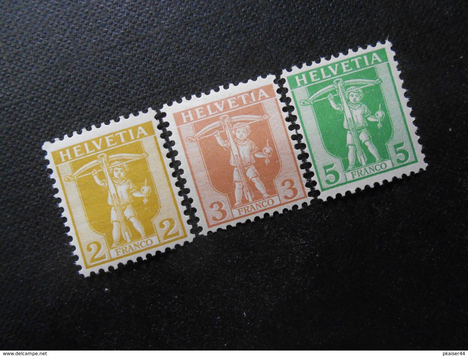 CH ZNr.101-103   Satz**/MNH - 1907  Z CHF 20.00 - Switzerland