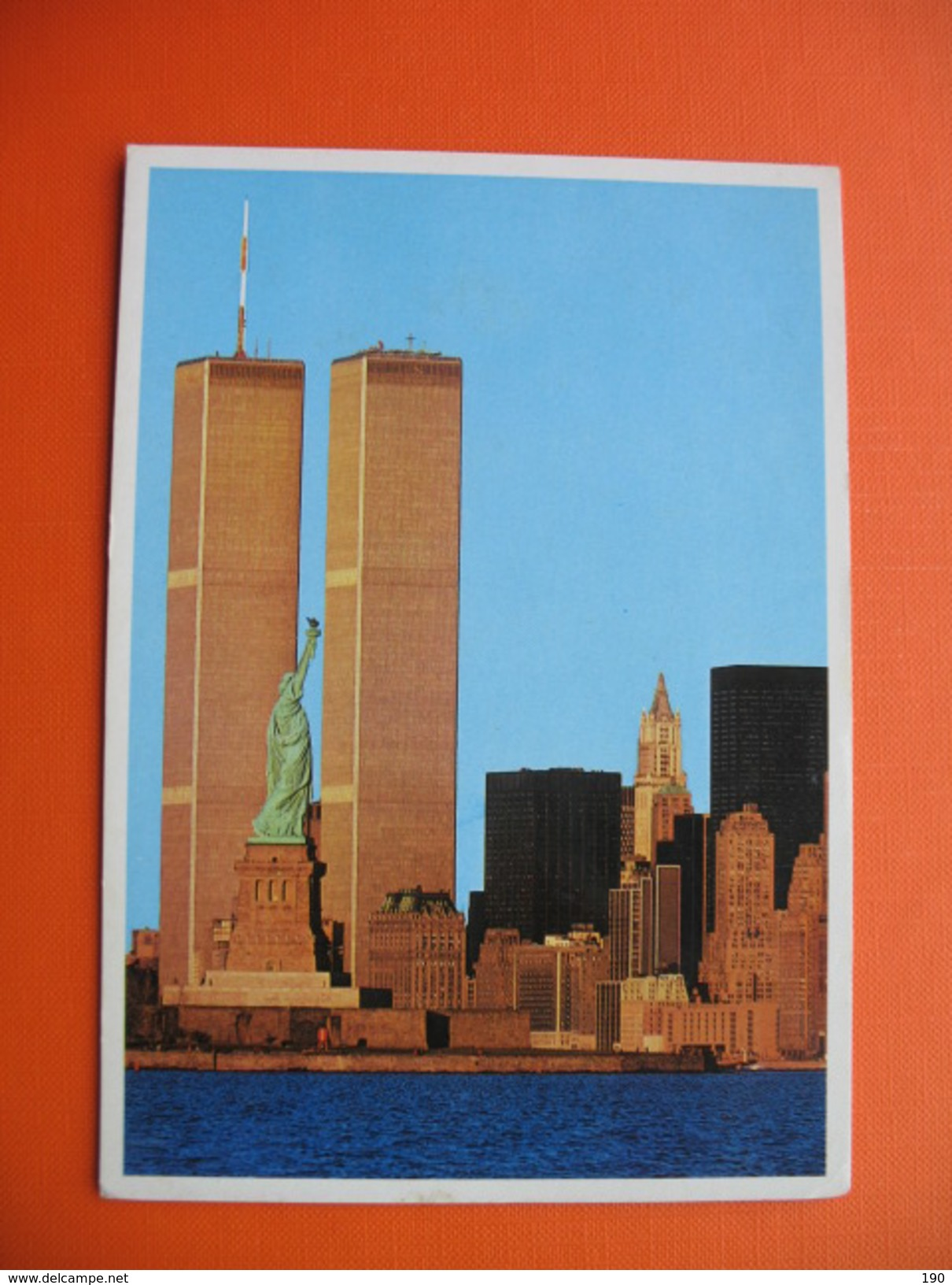 NEW YORK CITY.Statue Of Liberty And Lower Manhattan.Skyline In New York Harbor.World Trade Center. - Monuments