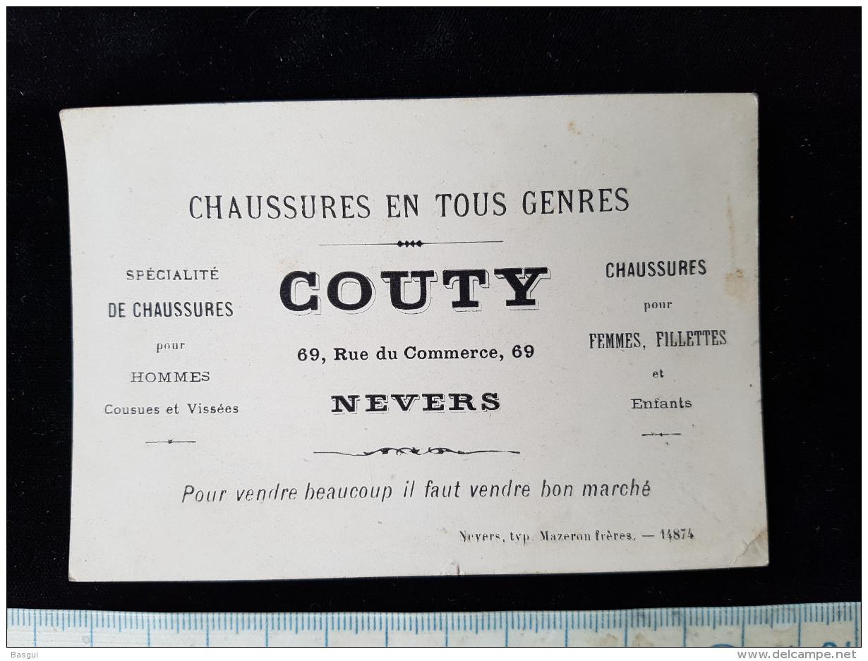 """Chromo Illustré  Pub, """"Chaussures Couty Nevers """" - Cromo"""