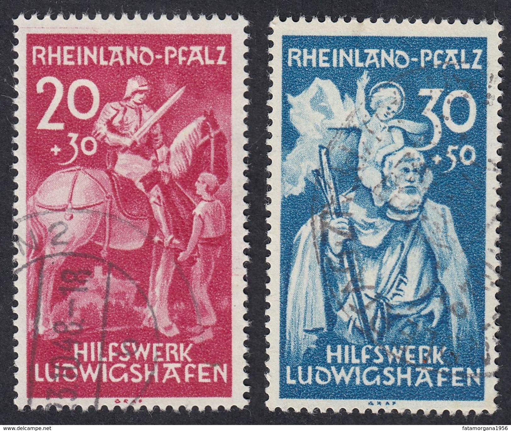 RHEINLAND/PFALZ - OCCUPAZIONE FRANCESE GERMANIA - 1948 - Serie Completa Usata Yvert 39/40. - Französische Zone