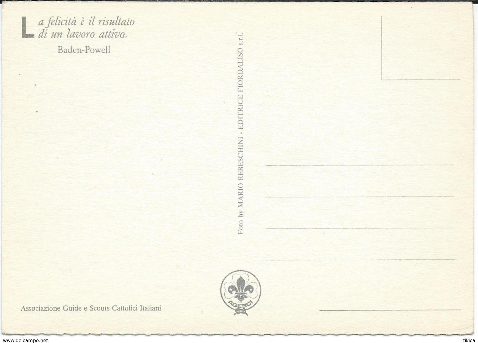 Scouting Postcard - Associazione Guide E Scouts Cattolici Italiani. Italian Scout Federation - Scoutisme
