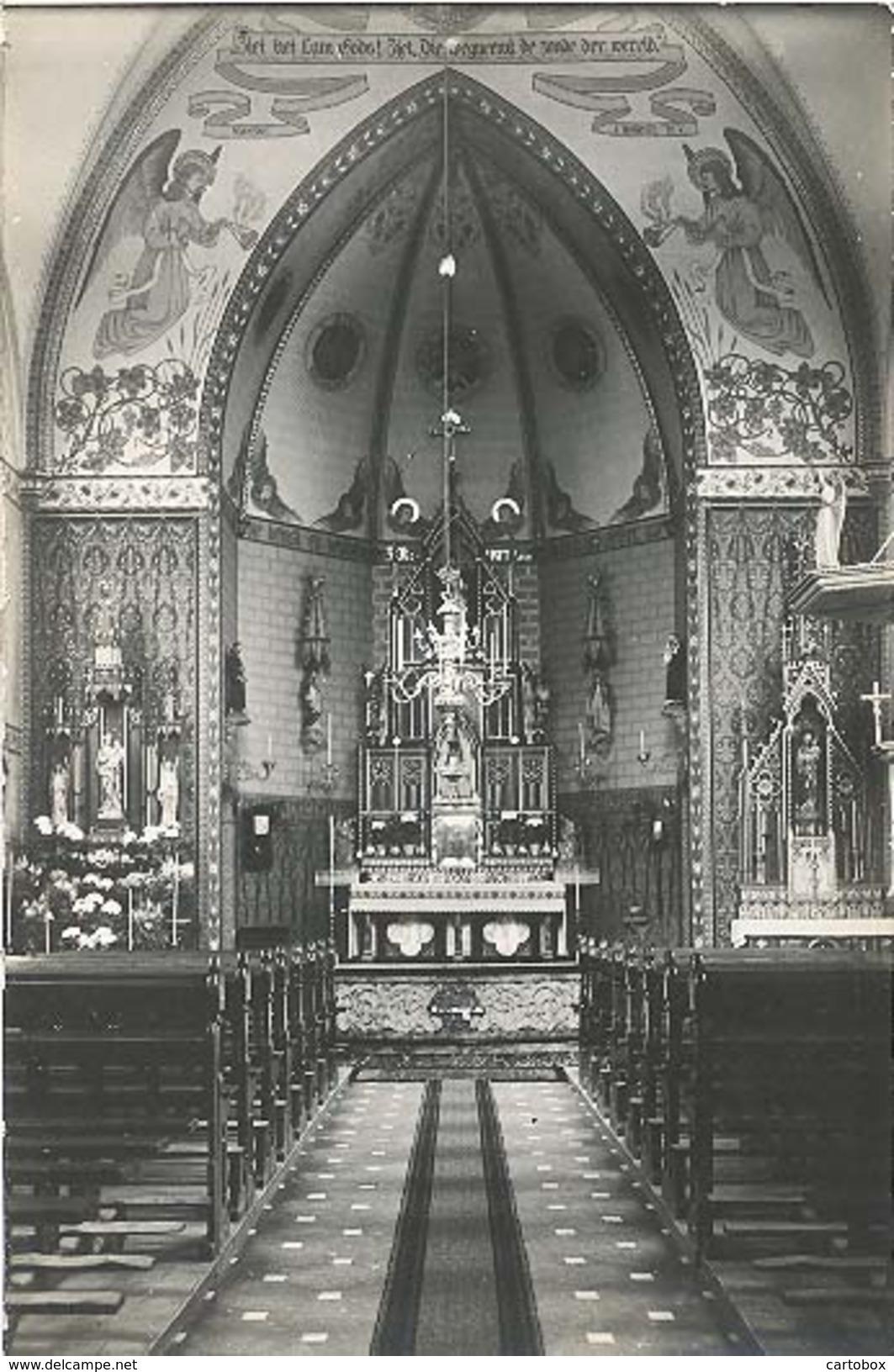 Hurwenen, Zonder Titel (afgebeeld Is Het Interieur Van De RK Kerk) (originele Fotokaart / 2 X Scan) (gemeente Maasdriel) - Paesi Bassi