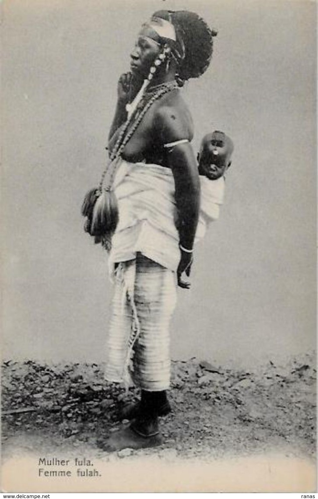 CPA Nu Féminin Femme Nue Ethnic Risque Curiosa Afrique Noire Non Circulé Colonie Portugal - Afrique Du Sud, Est, Ouest