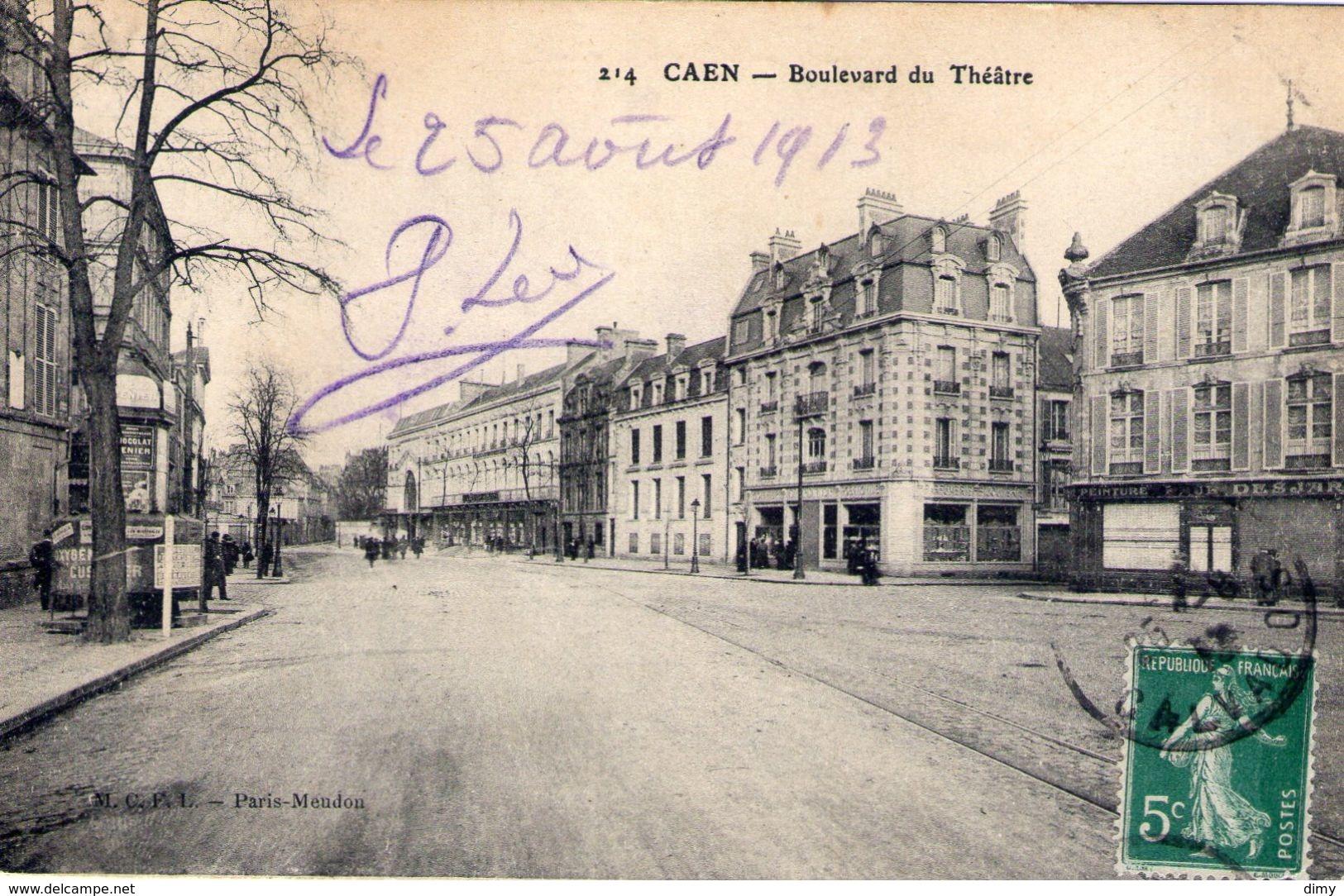 Cpa Caen 14 Calvados Boulevard  Du Theatre - Caen