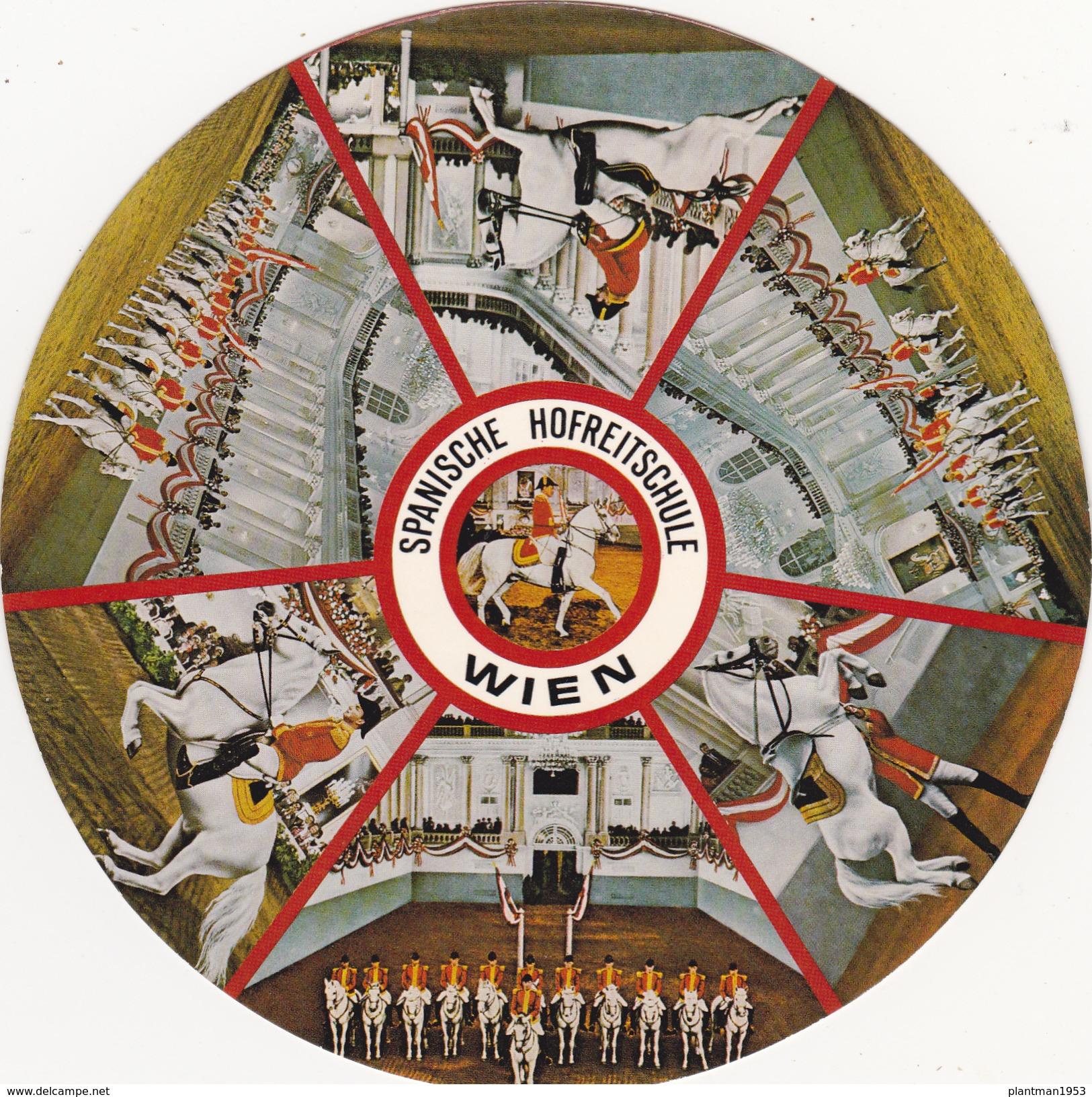 Big Round Postcard Of Spanische Hofreitschule,Wien,Vienna, Austria,L42. - Vienna