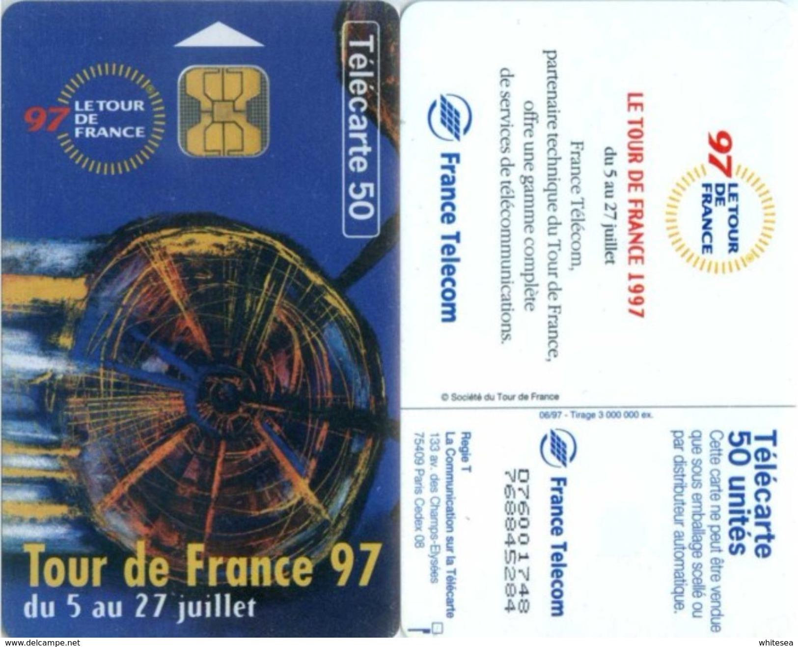 Telefonkarte Frankreich - Werbung - Tour De France 97  - 50 Units - 06/97 - Frankreich