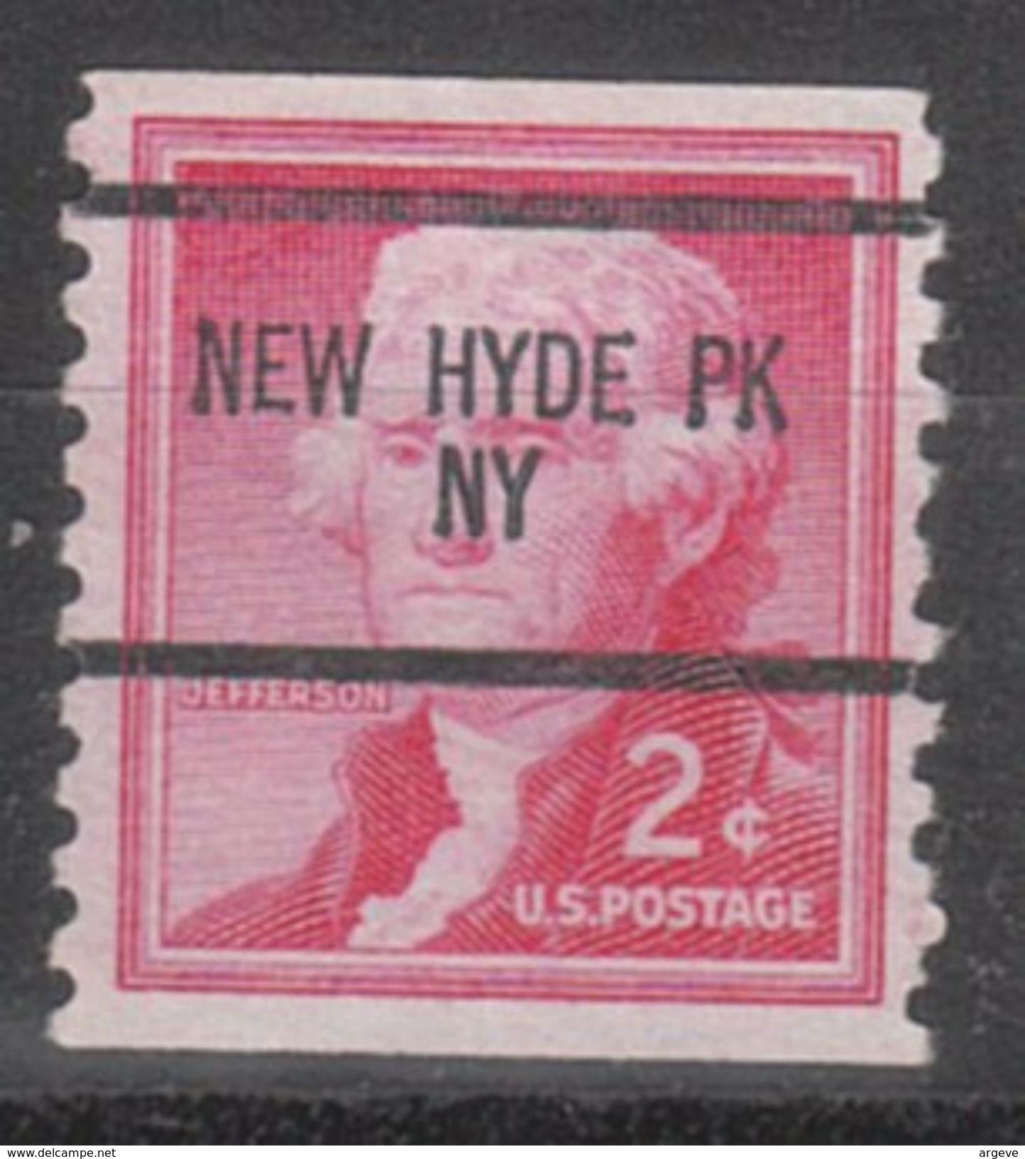USA Precancel Vorausentwertung Preo, Bureau New York, New Hyde Park 1055-87 - United States