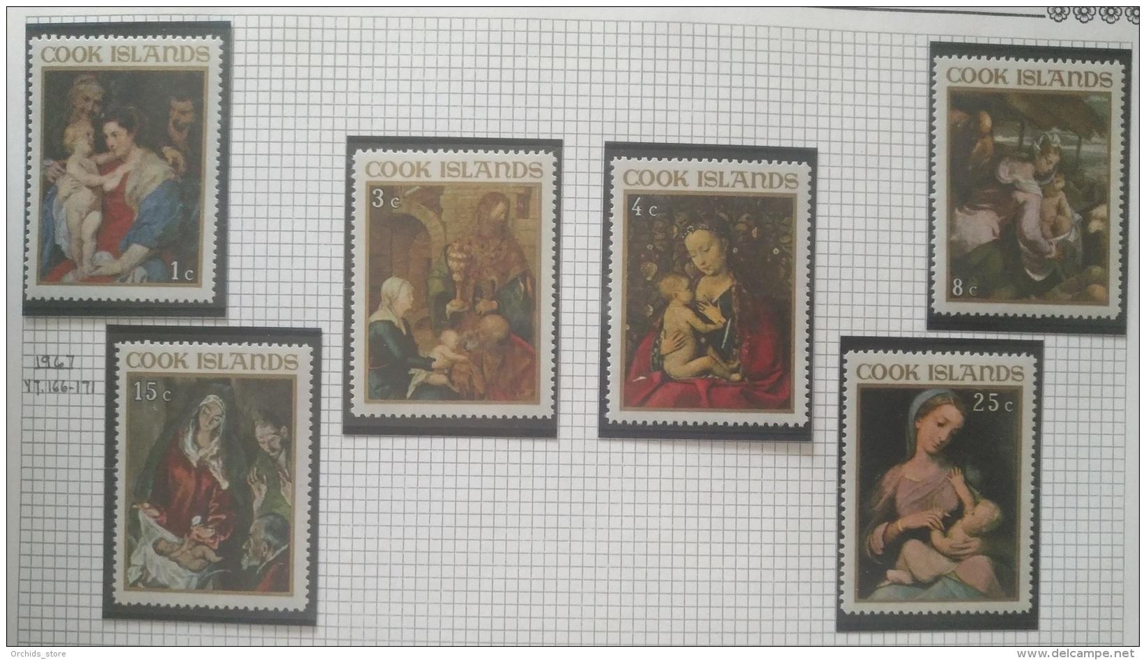 P7 Paintings - Cook Islands 1967 Yv. 166-171 Cplete Set 6v MNH Christmas Rubens Durer Van Eyck Bassano El Greco Antopnio - Cook Islands