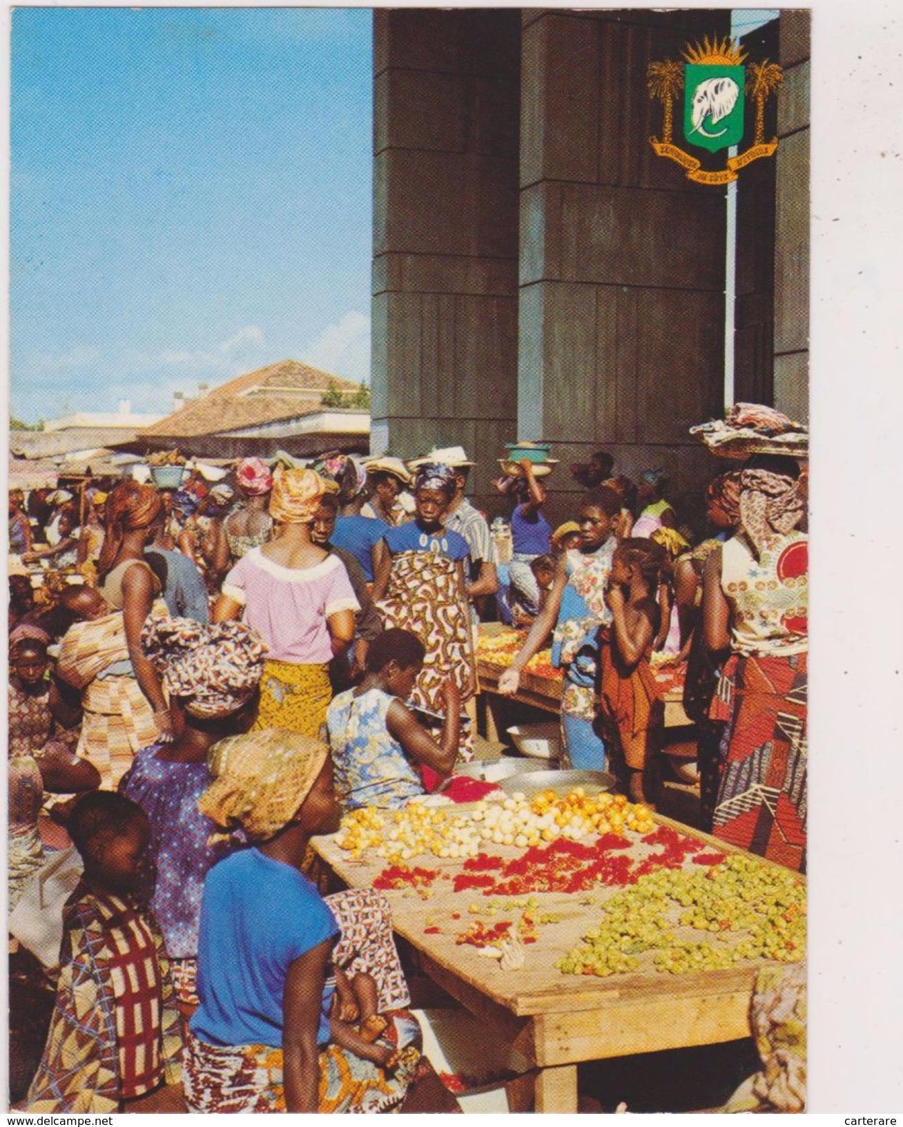 Afrique,ouest,francophone,cote D'ivoire ,abidjan,golfe De Guinée,TREICHEVILLE,COMMERCE,LE Marché - Côte-d'Ivoire