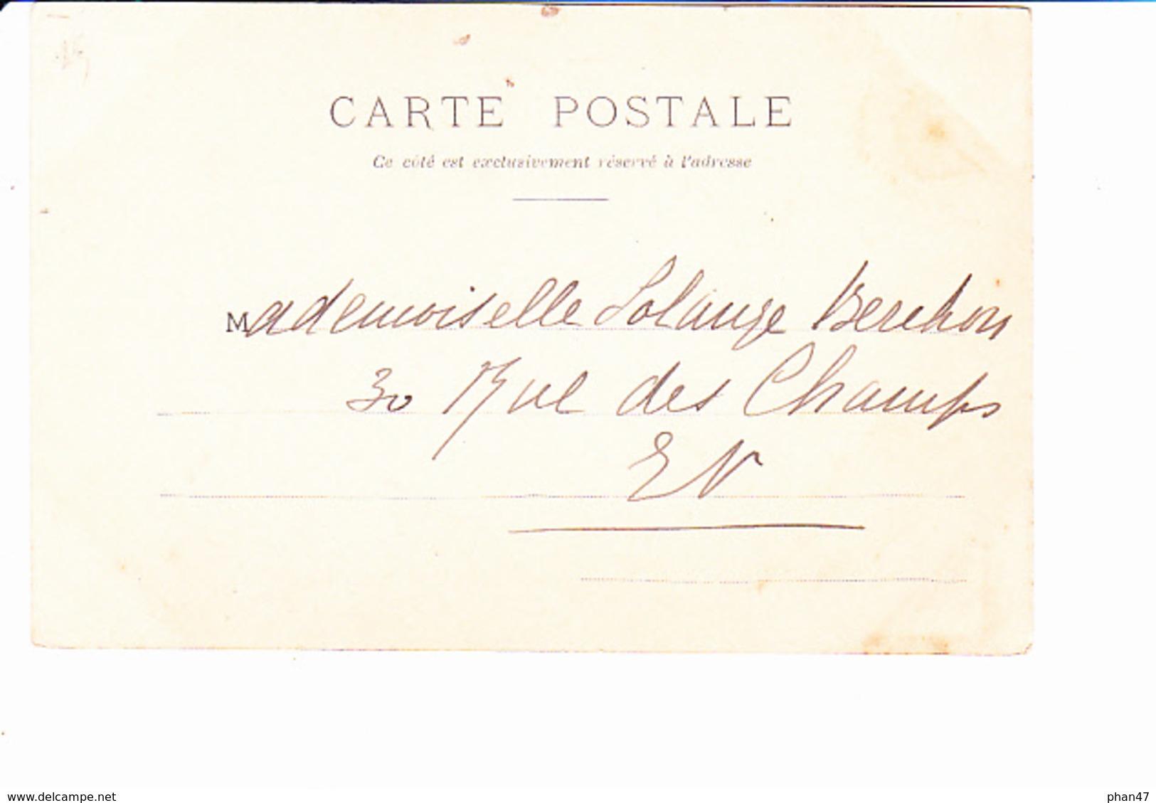 JOYEUX NOËL, HAPPY CHRISTMAS, Jeun Efemme élégante Dans La Forêt, Ed. L'H Paris 1920 Environ - Noël