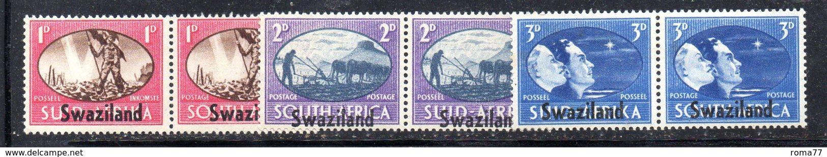 CI224 - SWAZILAND 1946, Serie Della Vittoria  *** - Swaziland (...-1967)