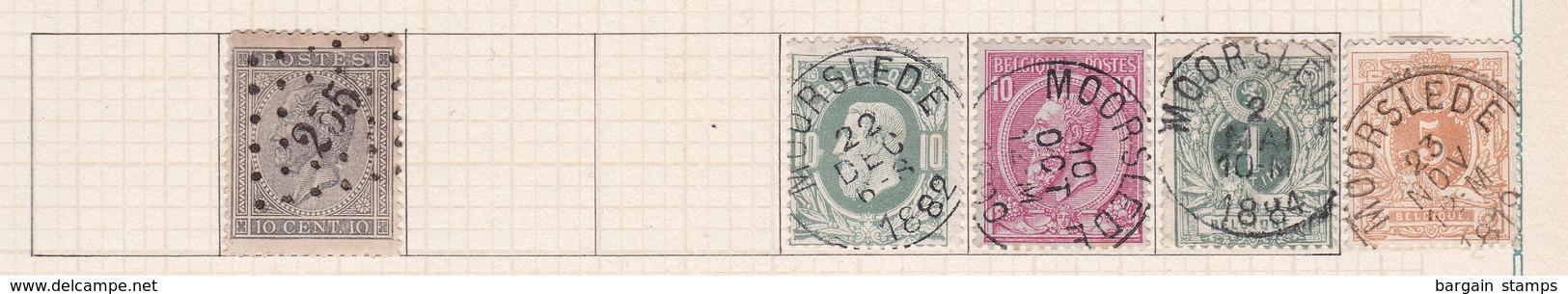 Belgique COB 17 30 46 26 28 Oblitérés Moorslede - Belgique