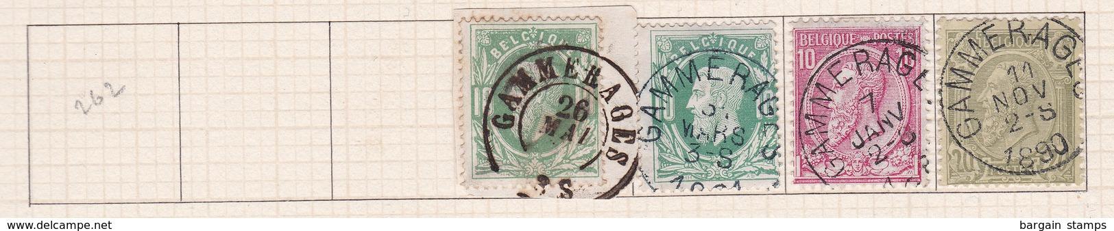 Belgique COB 30(x2) 46 47 Oblitérés Gammerages - Belgique
