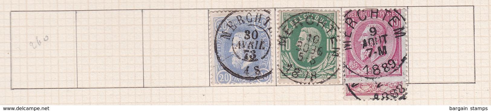 Belgique COB 31 30 46(x2) Oblitérés Merchtem - Non Classés