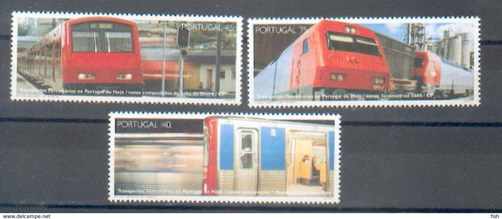 Portugal ** & Railroad Transportation 1994 (2246) - Trains