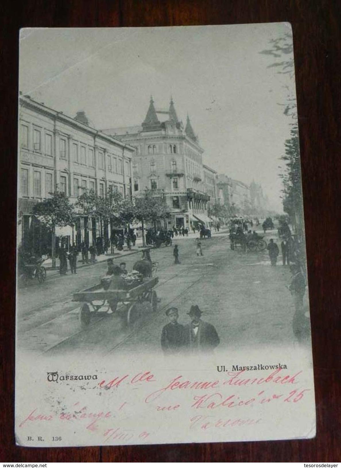 WARSZAWA. UL. MARSZALKOWSKA, B.R. 136 - Polonia