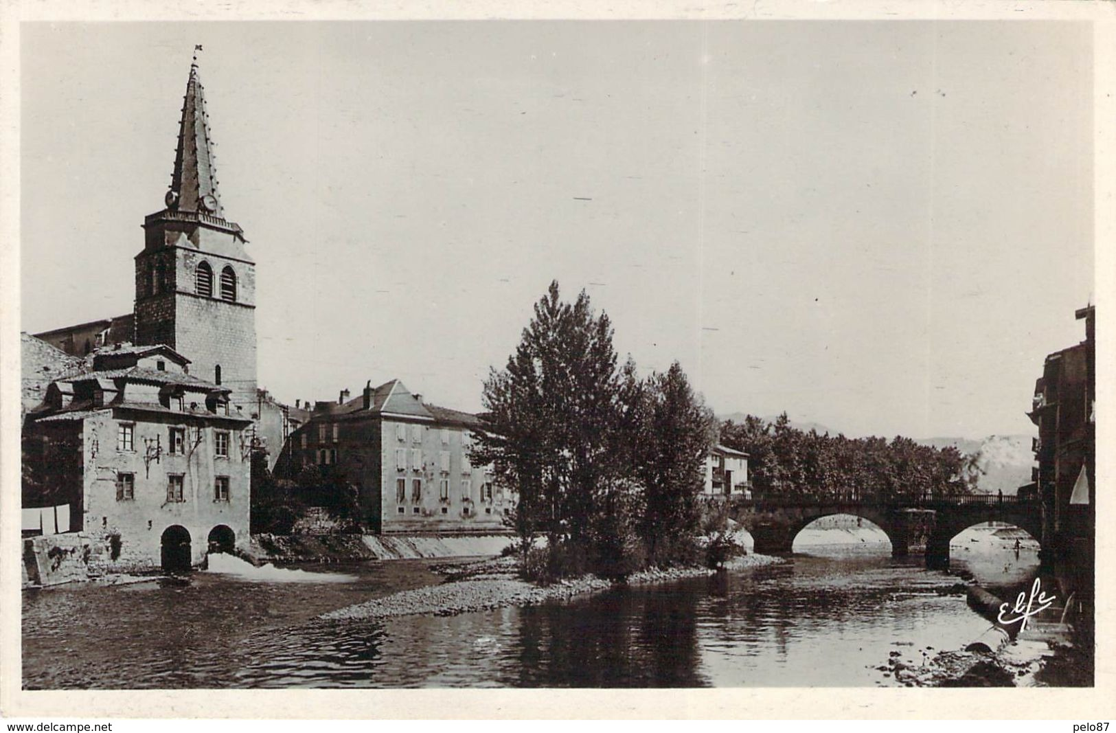 Cpsm Format Cpa  Saint-Girons L'église Et Le Pont CC 1487 - Saint Girons