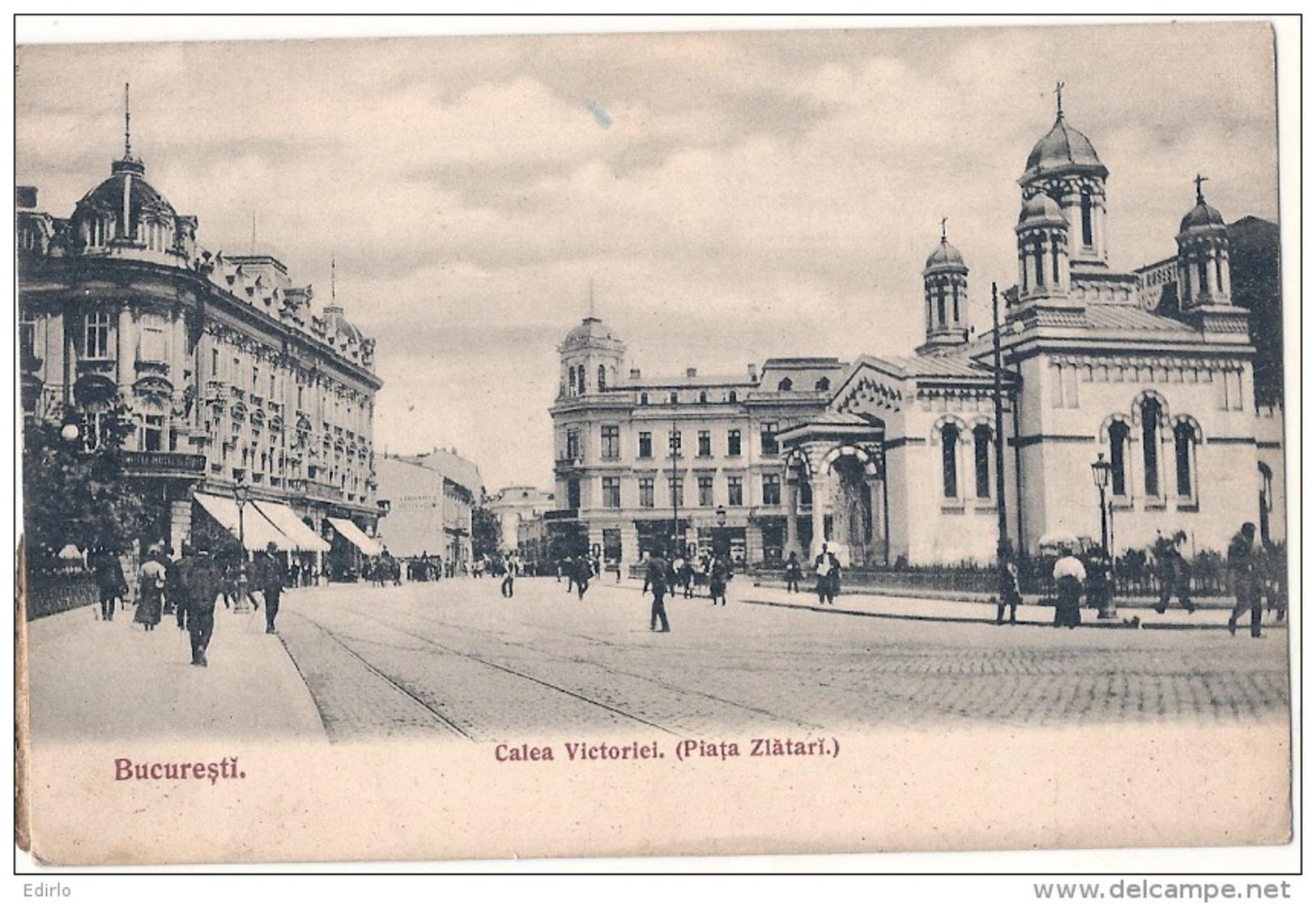 ROUMANIE - BUCURESTI - Calea Victorei  - Stamped - Roumanie